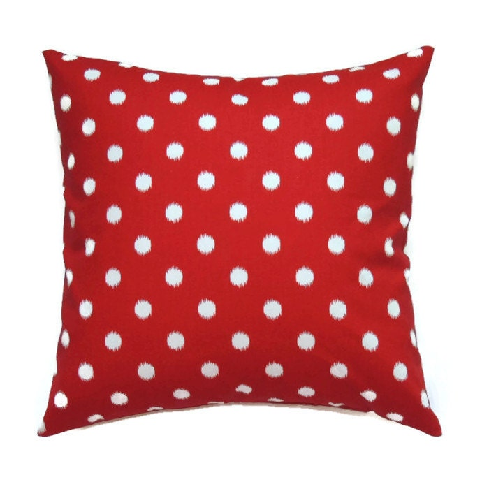 Red Ikat Pillow Covers 16x16 Pillow Cover Summer Decorative
