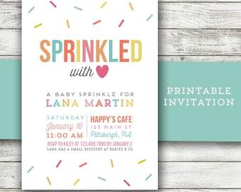 Baby Sprinkle Invitation Baby Shower Invite Printable File