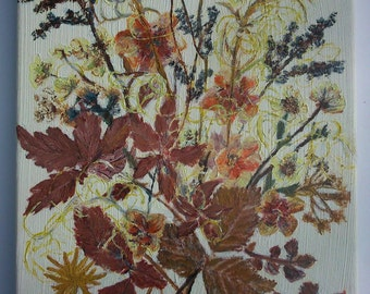 """Oil Painting - Original Artwork by Piefingers, """"Dried Flowers"""" - Oil On Canvas - Dried Flower Art"""