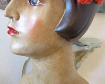 Ready to Ship: Crochet Flower Sunburnt Headband, Crochet Headband, Flower Headband, Chunky Yarn Headband, Hair Accessories,