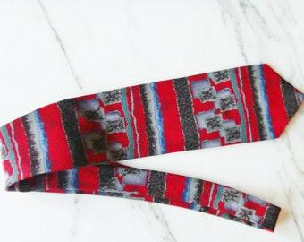Neck tie, Silk, Vintage Designer Necktie, Red