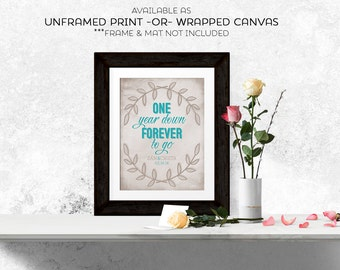 1 Year Anniversary Gifts For Him Paper : Paper 1st anniversary gift for her for himone year down forever to ...