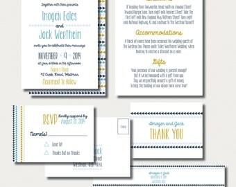 Printable Wedding Suite - Geometric, Triangles, DIY