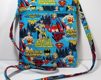NEW Wonder Woman Crossbody Bag with Zipper Cross Body Bag - Purse - Handbag - Supergirl - Batgirl