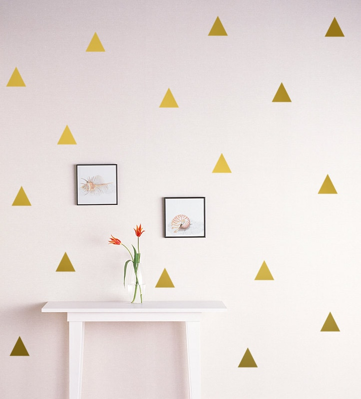 Triangle Wall Decal Gold Triangle Decal 2 5 Triangle