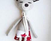 Stuffed toy/ Superhero/ Custom Handmade / René / ecofriendly cotton / 15,6 inches tall