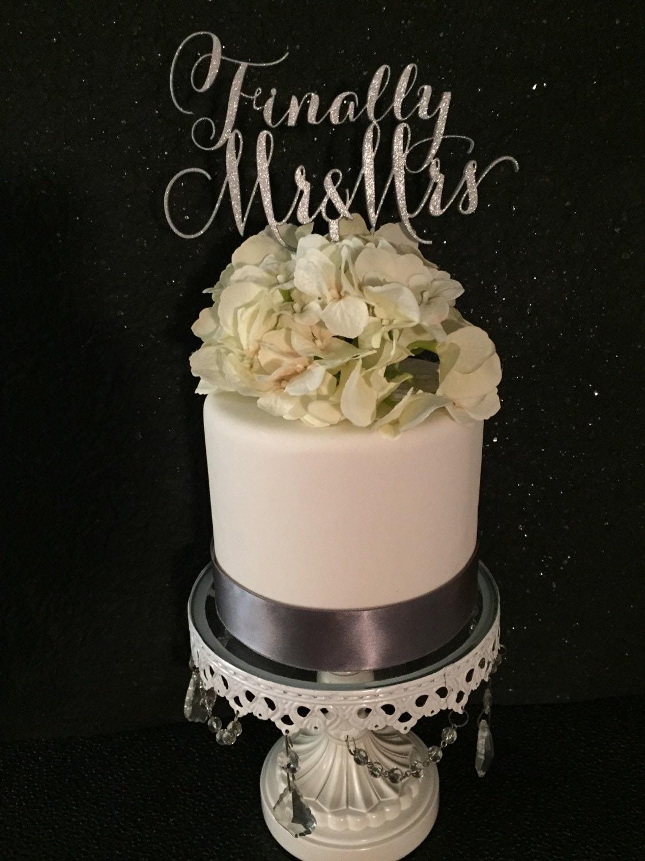 Finally Mr Amp Mrs Cake Topper For Weddings By
