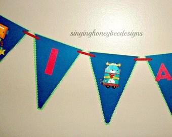 Robot birthday banner, Robot birthday party, Robot baby shower banner, Robot I am one banner, Robot first birthday