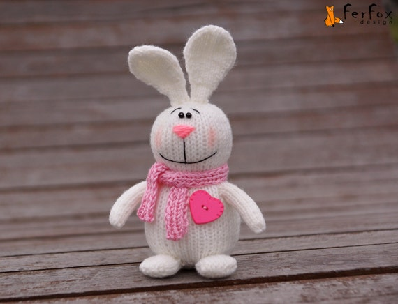 Plush bunny rabbit stuffed white rabbit girlfriend gift easter like this item negle Image collections