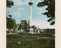 Burlington Vermont Unused Vintage Postcard Revolutionary Hero Ethan Allen Monument by Hugh Leighton Antique Post Card - 1354Me