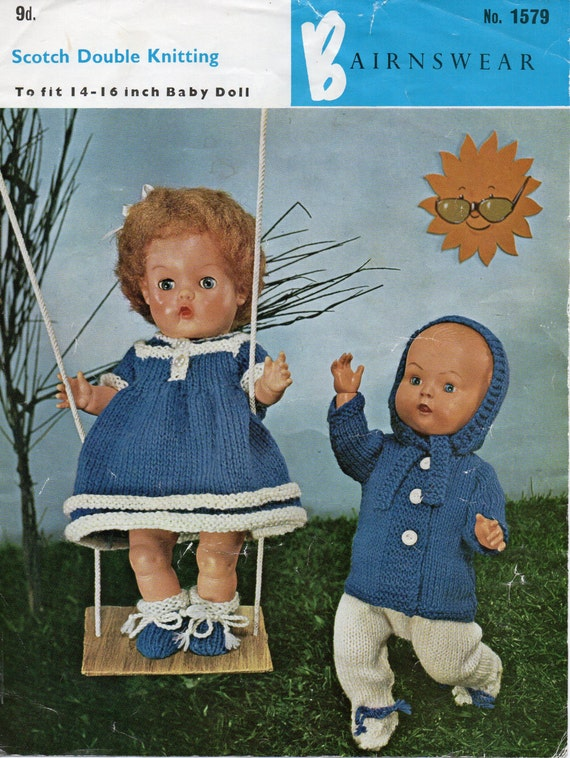 Knitting Patterns For Baby Dolls Clothes Old Style : Baby Dolls Knitting Pattern PDF baby dolls clothes dress