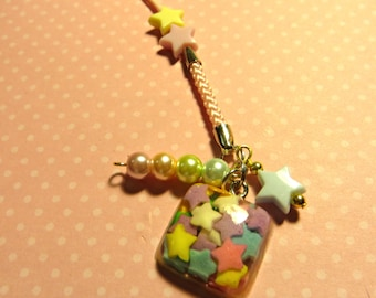 rainbow sugar sprinkles  cell phone charm