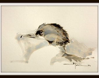 Ink Drawing Merganser