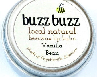 Beeswax Lip Balm with Vanilla Bean Infused Almond Oil