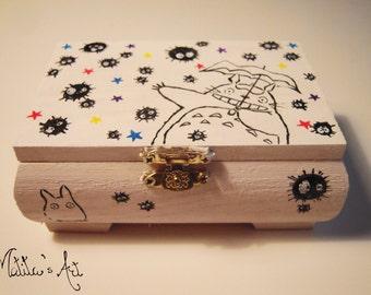 Studio Ghibli hand painted boxes series / Totoro, Soot sprites - Studio Ghibli Box