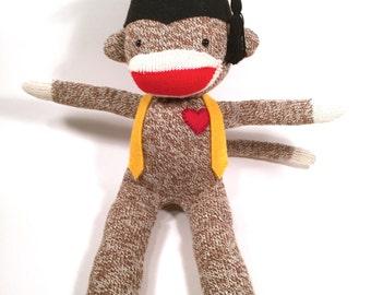 Graduation Sock Monkey Doll, Graduation Gift, Class of 2016 Gift, Gift for Graduate, College Graduation, High School Graduation, Senior