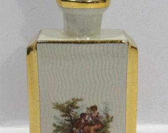 German Porcelain Perfume Bottle