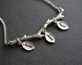Family Tree Necklace - Personalized Jewelry Gift - Inspirational Jewelry - Grandmother Jewelry - Custom Hand Stamped Jewelry - Mom Grandma