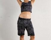 Crop Top -  Organic Yoga Top - Yoga Top - Yoga Clothing - Geometric Print Top