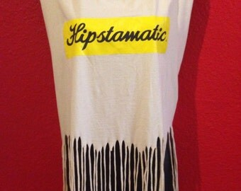 Hipstamatic Tank Top, SXSW, Fringe, Upcycled, music festival top