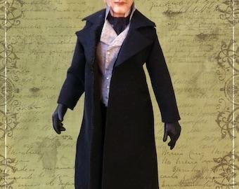 G.DEPARDIEU as JEAN VALJEAN ooak 1/12 dollhouse doll by Soraya Merino