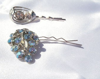 Blue Wedding Pins, Blue Wedding Pin, Blue Hair Pin, Blue Bobby Pins, Something Blue Pins, Something Blue Hair, Blue Bobby Pin