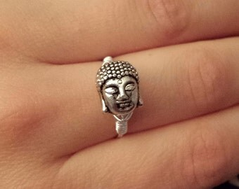 Buddha Ring // Boho Ring // Wire Wrapped Ring // Buddhism // Wire Ring // Silver Ring // Cute Ring // Bohemian Ring // Hippie Ring
