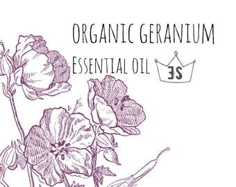 Organic Geranium Essential Oil - Pure Essential Oils - Organic Essential Oil