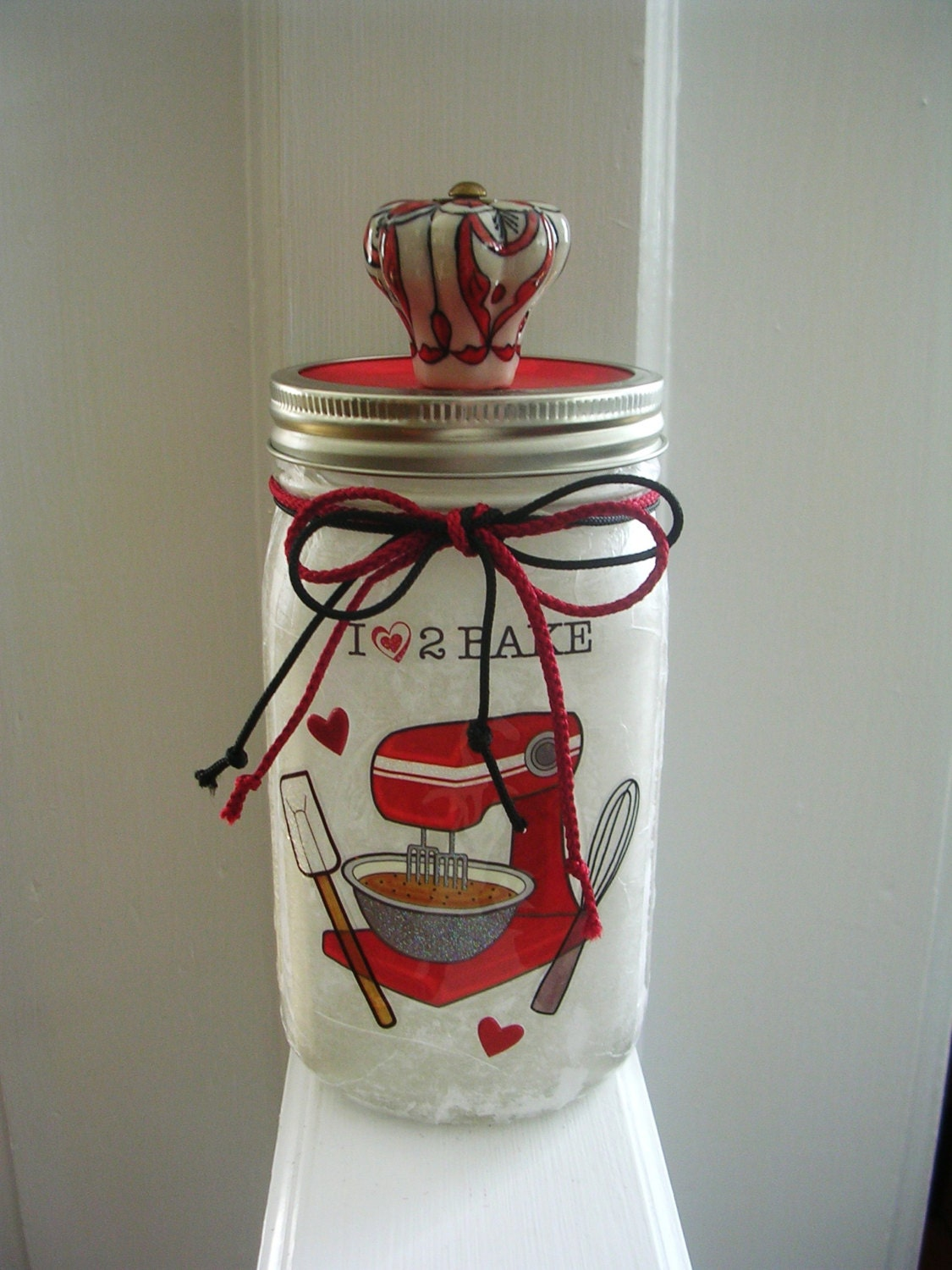 Bakers mason jar light kitchen decor mason jar for Kitchen jar decoration