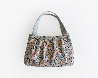 Girls bag floral purse small tote bag fabric handbags handmade purse