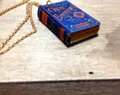 Handmade Miniature Great Expectations paper Book charm Necklace / Vintage look / Perfect Gift idea for Classic Novel lovers!