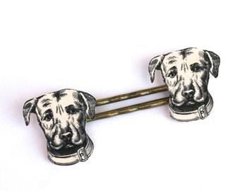 Dog Bobby Pins - Dog Jewelry - Mans Best Friend - Dog - Dog Barrettes - Dog Hair Clips - Animal Jewelry - Shrink Plastic Jewelry - Animal
