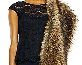 Mad Max - Fake Fur Cape Fur Shrug Fur Cloak - Coachella - Festival - Boho - by Luv Warrior