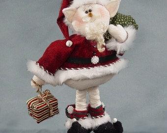 """Pattern: Snanta - 12"""" Santa Snow Elf"""