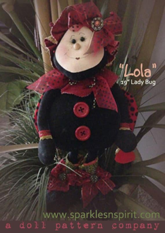 """Pattern: Lola - 19"""" Ladybug"""