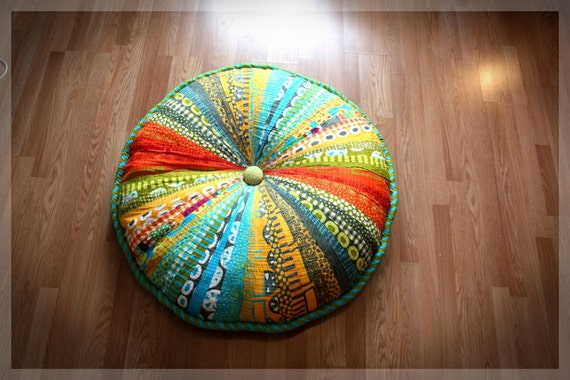 Washable Floor Pillows : Washable 42 Enormous Pouf Giant Floor Cushion by ScrumptiousNSassy