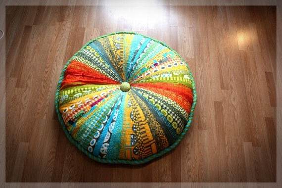 Floor Pillows With Washable Covers : Washable 42 Enormous Pouf Giant Floor Cushion by ScrumptiousNSassy