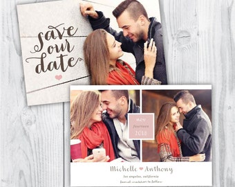 save the date template / simple save the date / printable save the date / save the date photoshop template / photo save the date template