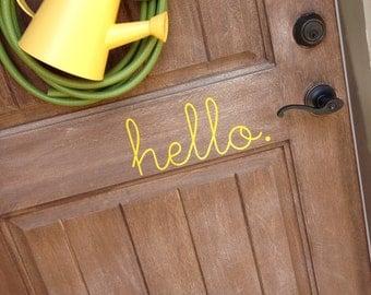 """Vinyl """"hello"""" Door Decoration"""