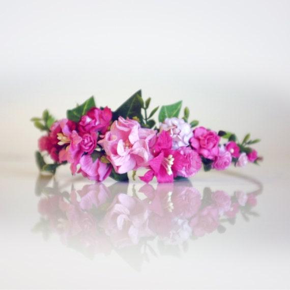 DIY Pink Flower Crown Craft Kit Pink Flower By OhDinaFlowerCrowns
