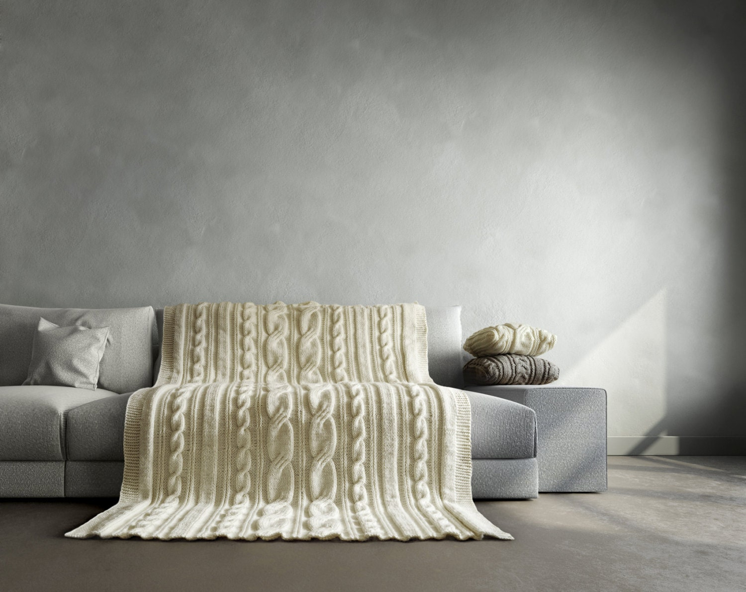 Cable Knit Blanket It Fits Perfect For Bed And Couch Will Be