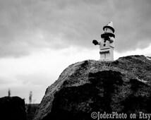LEGO® Sad Clown 'On a Cliff' Photograph Print 7x5, 8x10 or 20x16 Wall Art Home Decor