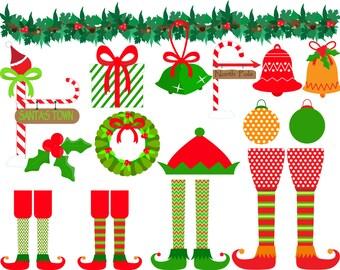 Santa's Elves Clipart Set - Digital Clip Art (106)