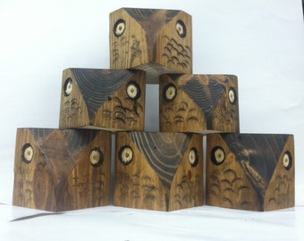 Knotty Pine Owl Tea Light Holder