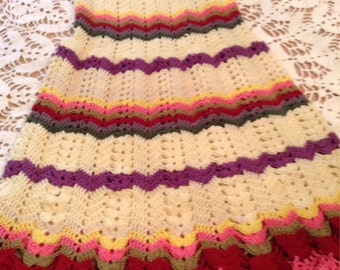 Handmade crochet dress little girls size 12
