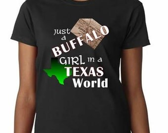 Buffalo Girl in Texas T-Shirt