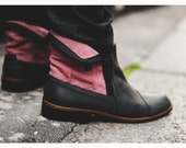 Black men's leather boots - shoes, made in France by hand / City shoes / Casual, smart, trendy, lifestyle, menswear