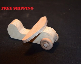 Handcrafted Set of 10 Small Wooden Airplaines