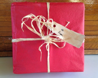 Birch Bark Gift Tag