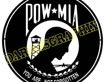 this is a dxf file honoring the P.O.W.s for use with a cmc machine